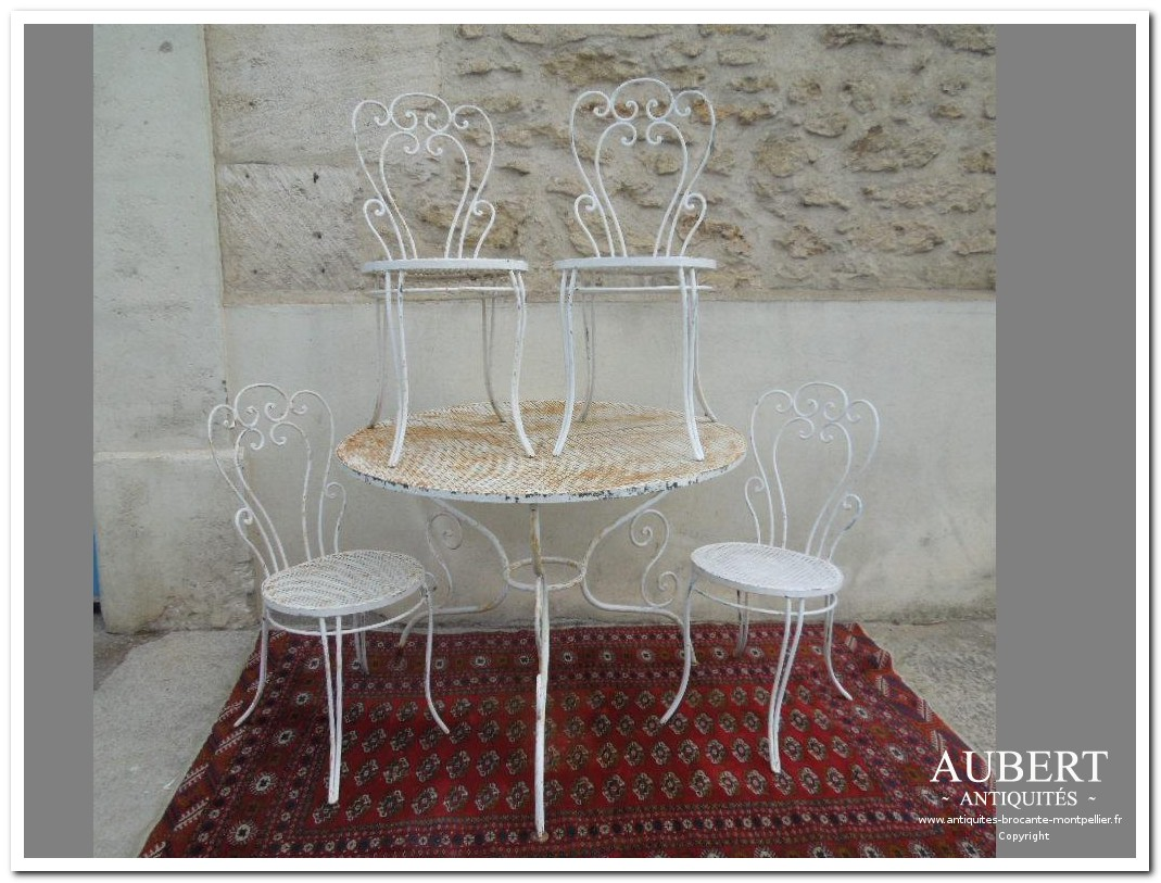 Stunning table de jardin romantique metal photos awesome - Salon de jardin metal ...