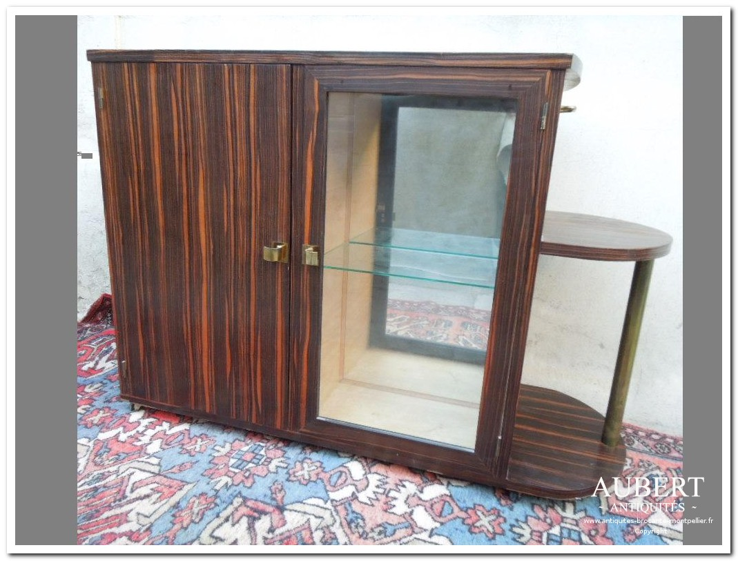 meuble bar en macassar art deco double face achat antiquites achat brocante vente antiquites vente brocante antiquaire antiquaires montpellier brocanteur montpellier succession debarras antiquites aubert montpellier fabregues sete beziers gigean