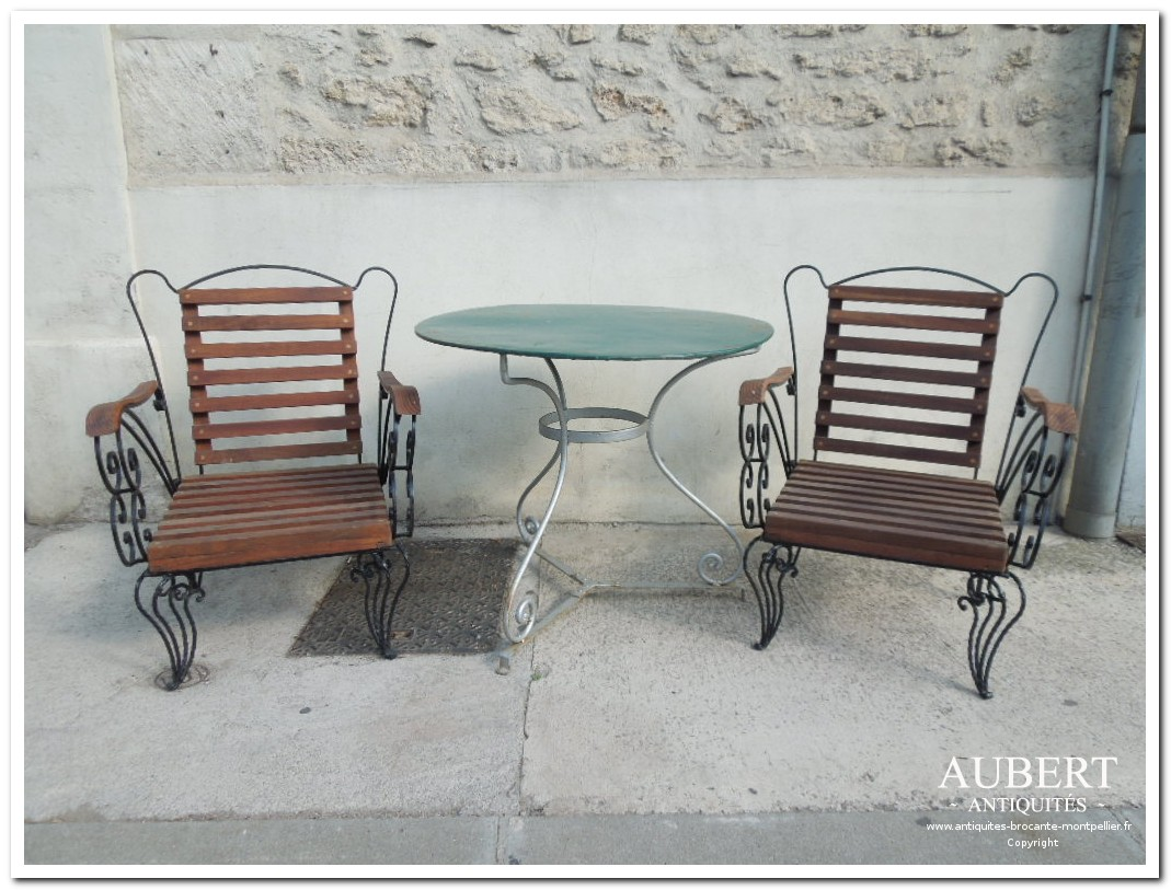 fauteuil de jardin table de jardin achat antiquites achat brocante vente antiquites vente brocante antiquaire antiquaires montpellier brocanteur montpellier succession debarras antiquites aubert montpellier fabregues sete beziers gigean